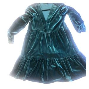 Zara-Green, long sleeve dress